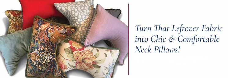 leftover fabric neck pillows
